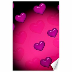 Background Heart Valentine S Day Canvas 24  X 36  by BangZart
