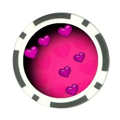 Background Heart Valentine S Day Poker Chip Card Guard (10 Pack) by BangZart