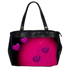 Background Heart Valentine S Day Office Handbags by BangZart