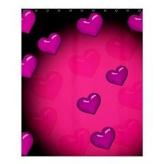 Background Heart Valentine S Day Shower Curtain 60  X 72  (medium)  by BangZart