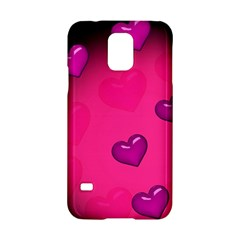 Background Heart Valentine S Day Samsung Galaxy S5 Hardshell Case  by BangZart