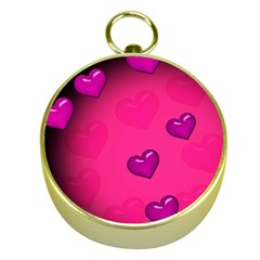 Background Heart Valentine S Day Gold Compasses by BangZart