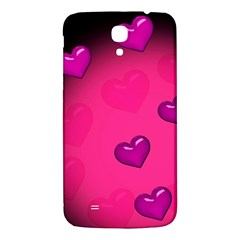 Background Heart Valentine S Day Samsung Galaxy Mega I9200 Hardshell Back Case by BangZart