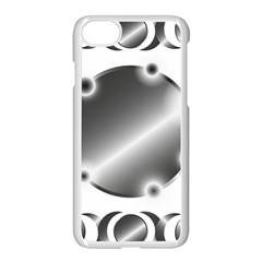 Metal Circle Background Ring Apple Iphone 7 Seamless Case (white) by BangZart
