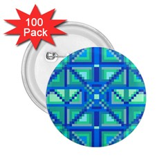 Grid Geometric Pattern Colorful 2 25  Buttons (100 Pack)  by BangZart