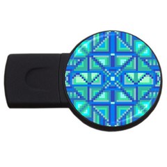 Grid Geometric Pattern Colorful Usb Flash Drive Round (2 Gb) by BangZart