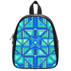 Grid Geometric Pattern Colorful School Bags (small)  by BangZart
