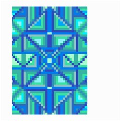 Grid Geometric Pattern Colorful Small Garden Flag (two Sides) by BangZart