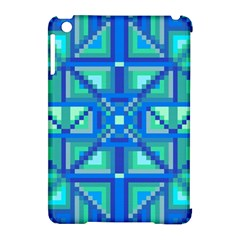 Grid Geometric Pattern Colorful Apple Ipad Mini Hardshell Case (compatible With Smart Cover) by BangZart