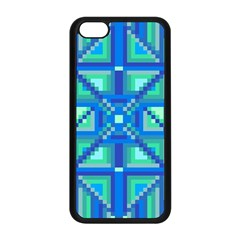 Grid Geometric Pattern Colorful Apple Iphone 5c Seamless Case (black) by BangZart