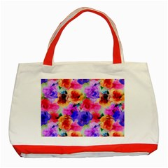 Floral Pattern Background Seamless Classic Tote Bag (red) by BangZart