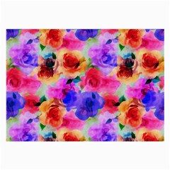 Floral Pattern Background Seamless Large Glasses Cloth (2 Side) by BangZart