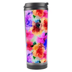 Floral Pattern Background Seamless Travel Tumbler by BangZart