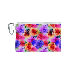 Floral Pattern Background Seamless Canvas Cosmetic Bag (s) by BangZart
