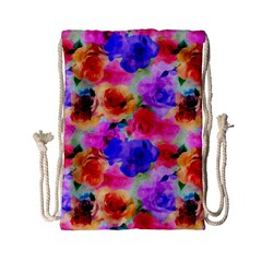 Floral Pattern Background Seamless Drawstring Bag (small) by BangZart