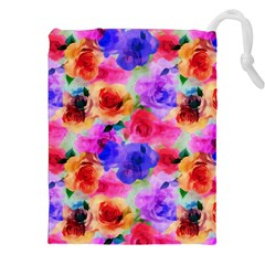 Floral Pattern Background Seamless Drawstring Pouches (xxl) by BangZart