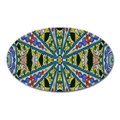 Kaleidoscope Background Oval Magnet by BangZart