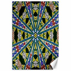 Kaleidoscope Background Canvas 20  X 30   by BangZart