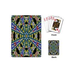 Kaleidoscope Background Playing Cards (mini)  by BangZart