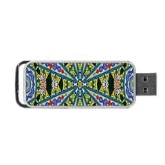Kaleidoscope Background Portable Usb Flash (one Side) by BangZart