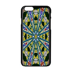 Kaleidoscope Background Apple Iphone 6/6s Black Enamel Case by BangZart