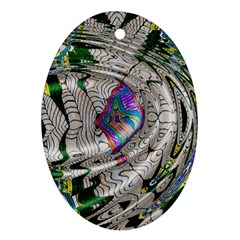 Water Ripple Design Background Wallpaper Of Water Ripples Applied To A Kaleidoscope Pattern Ornament (oval) by BangZart