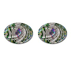 Water Ripple Design Background Wallpaper Of Water Ripples Applied To A Kaleidoscope Pattern Cufflinks (oval) by BangZart