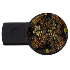 Wallpaper With Fractal Small Flowers Usb Flash Drive Round (2 Gb) by BangZart