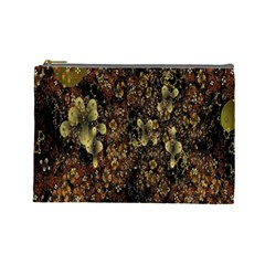 Wallpaper With Fractal Small Flowers Cosmetic Bag (large)  by BangZart