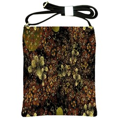 Wallpaper With Fractal Small Flowers Shoulder Sling Bags by BangZart