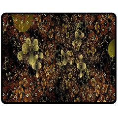 Wallpaper With Fractal Small Flowers Fleece Blanket (medium)  by BangZart