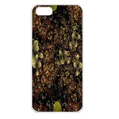 Wallpaper With Fractal Small Flowers Apple Iphone 5 Seamless Case (white)