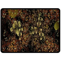 Wallpaper With Fractal Small Flowers Double Sided Fleece Blanket (large)  by BangZart