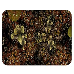 Wallpaper With Fractal Small Flowers Double Sided Flano Blanket (medium)  by BangZart