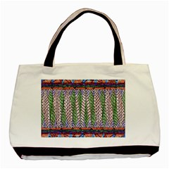 Nature Pattern Background Wallpaper Of Leaves And Flowers Abstract Style Basic Tote Bag by BangZart
