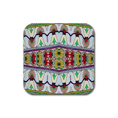 Kaleidoscope Background  Wallpaper Rubber Square Coaster (4 Pack)  by BangZart
