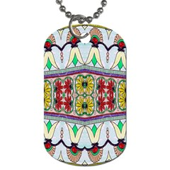 Kaleidoscope Background  Wallpaper Dog Tag (two Sides) by BangZart