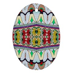 Kaleidoscope Background  Wallpaper Oval Ornament (two Sides) by BangZart