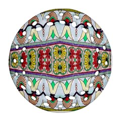 Kaleidoscope Background  Wallpaper Round Filigree Ornament (two Sides) by BangZart