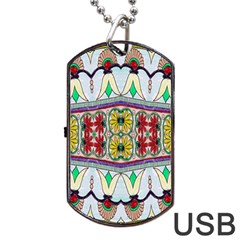 Kaleidoscope Background  Wallpaper Dog Tag Usb Flash (two Sides) by BangZart