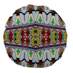 Kaleidoscope Background  Wallpaper Large 18  Premium Round Cushions by BangZart