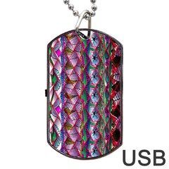 Textured Design Background Pink Wallpaper Of Textured Pattern In Pink Hues Dog Tag Usb Flash (two Sides) by BangZart