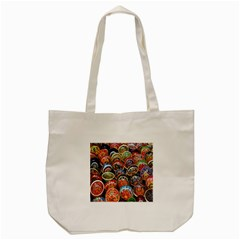 Colorful Oriental Bowls On Local Market In Turkey Tote Bag (cream) by BangZart