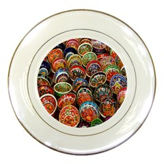 Colorful Oriental Bowls On Local Market In Turkey Porcelain Plates