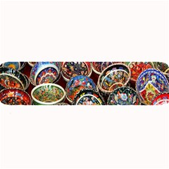 Colorful Oriental Bowls On Local Market In Turkey Large Bar Mats by BangZart
