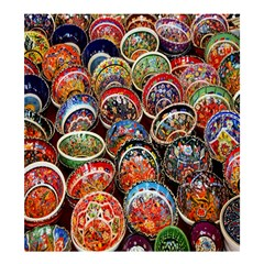 Colorful Oriental Bowls On Local Market In Turkey Shower Curtain 66  X 72  (large)  by BangZart