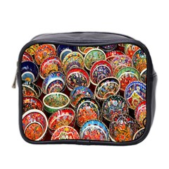 Colorful Oriental Bowls On Local Market In Turkey Mini Toiletries Bag 2 Side by BangZart