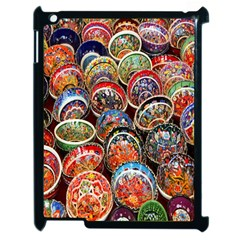 Colorful Oriental Bowls On Local Market In Turkey Apple Ipad 2 Case (black) by BangZart