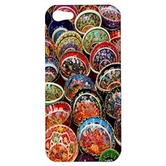 Colorful Oriental Bowls On Local Market In Turkey Apple Iphone 5 Hardshell Case by BangZart