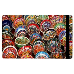 Colorful Oriental Bowls On Local Market In Turkey Apple Ipad 2 Flip Case by BangZart